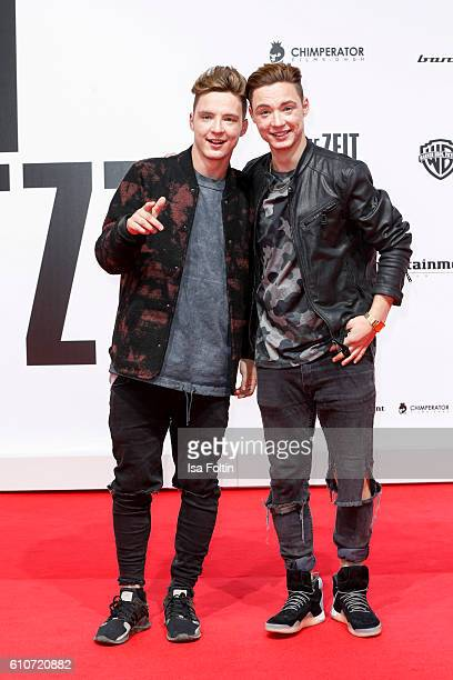 Roman Lochmann and Heiko Lochmann of the band Die Lochis attends the 'Unsere Zeit ist jetzt' World Premiere at CineStar on September 27, 2016 in...