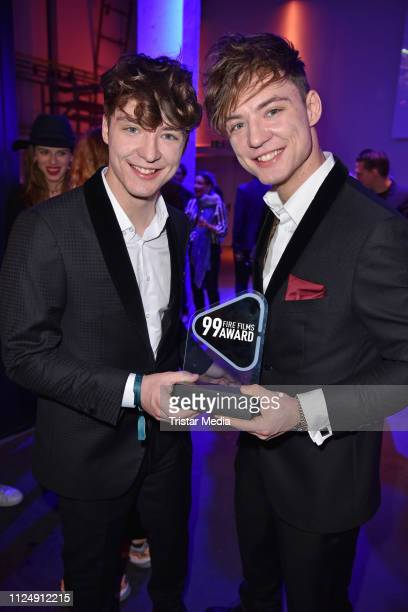 Roman Lochmann and Heiko Lochmann of the duo Die Lochis attend the 99Fire-Films Award after show party during the 69th Berlinale International Film...