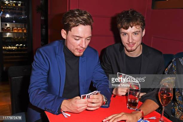 Roman Lochmann and Heiko Lochmann of the duo Die Lochis during the 'Place To B playing for charity' event at Restaurant Provocateur on October 24,...