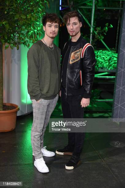 Roman Lochmann and his brother Heiko Lochmann of the duo Die Lochis attend the International Music Awards at Verti Music Hall on November 22, 2019 in...
