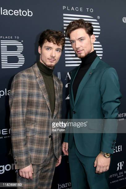 """Roman Lochmann and his twin Heiko Lochmann at the """"Place To B Awards"""" at Axel-Springer-Haus on November 16, 2019 in Berlin, Germany."""