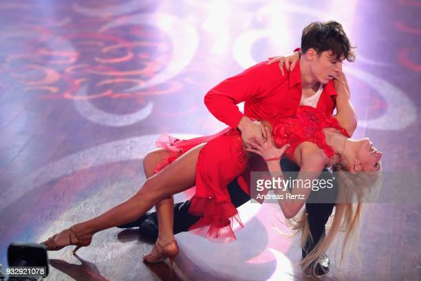 Roman Lochmann and Katja Kalugin perform on stage during the 1st show of the 11th season of the television competition 'Let's Dance' on March 16 2018...