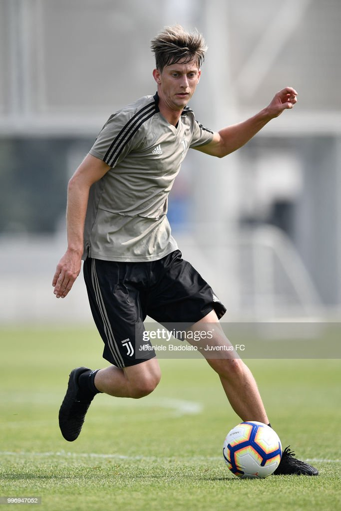 Roman Macek during a Juventus training session at Juventus Training Center on July 12, 2018 in Turin, Italy.
