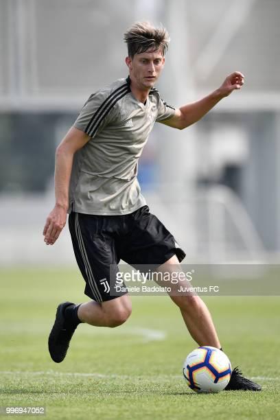 Roman Macek during a Juventus training session at Juventus Training Center on July 12 2018 in Turin Italy
