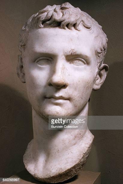 Roman marble bust of Emperor Caligula Sculpture circa 3741AD