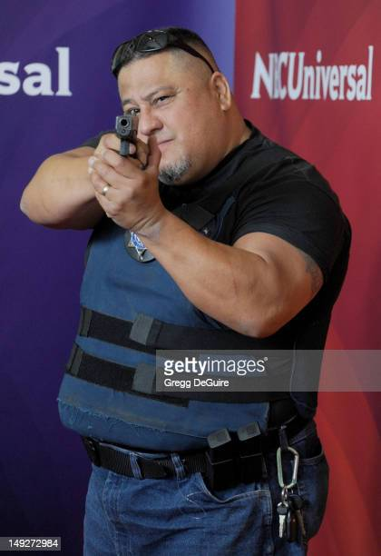 Roman Morales arrives at the 2012 NBC Universal summer TCA press tour day 2 at The Beverly Hilton Hotel on July 25, 2012 in Beverly Hills, California.
