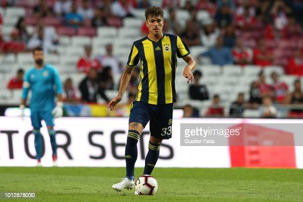 Roman Neustadter of Fenerbache SK in action during the UEFA Champions League Qualifier match between SL Benfica and Fenerbache at Estadio da Luz on...