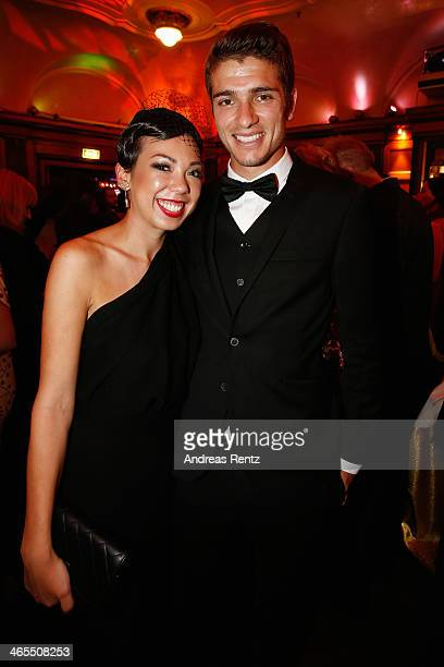 Roman Neustaedter and partner Mona Opp attend the Lambertz Monday Night at Alter Wartesaal on January 27 2014 in Cologne Germany