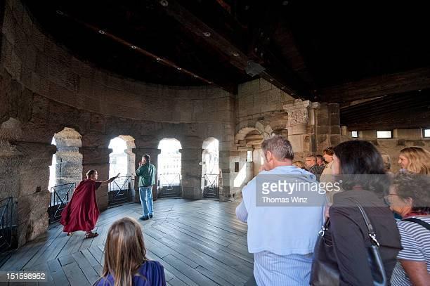 Roman performer inside Porta Negro