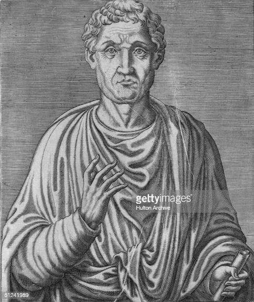 Roman philosopher and statesman Anicius Manlius Severinus Boethius . Original Publication: From 'Vie Des Hommes Illustres' by Andre Thevet, pub. 1584.