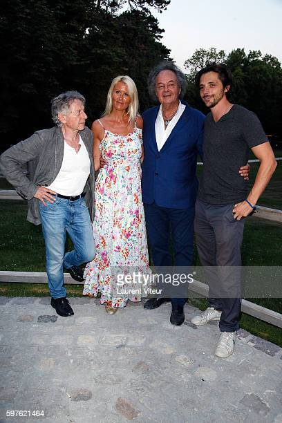 Roman Polanski Alice Bertheaume Gonzague Saint Bris and Raphael Personnaz attend 21th 'La Foret des Livres ' Diner Party at Clos Luce Castle on...