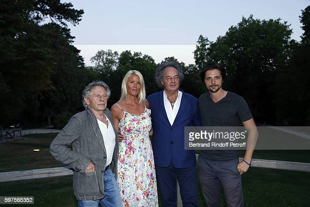 Roman Polanski Alice Bertheaume Gonzague Saint Bris and Raphael Personnaz attend the Diner Party at 'Chateau du Clos Luce' before 21th 'La Foret Des...