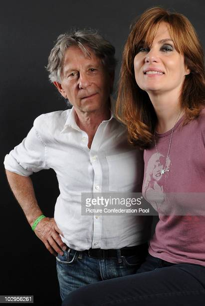 Roman Polanski and Emmanuelle Seigner pose at The Montreux Jazz Festival on July 17 2010 in Montreux Switzerland