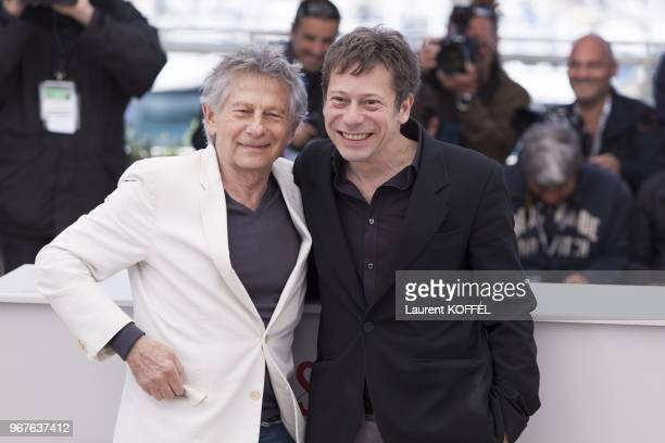 Roman Polanski and Mathieu Amalric attend the 'La Venus A La Fourrure' Photocall during the 66th Annual Cannes Film Festival on May 25 2013 in Cannes...