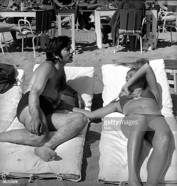 Roman Polanski and Sharon Tate. Cannes festival, 1968. HA-1143-5.