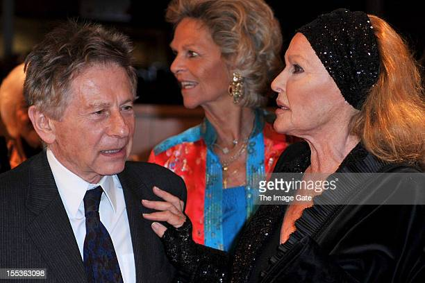 Roman Polanski and Ursula Andress attend the Gala of Bern in honour of Ursula Andress celebrating 50 years of the James Bond films held at the...