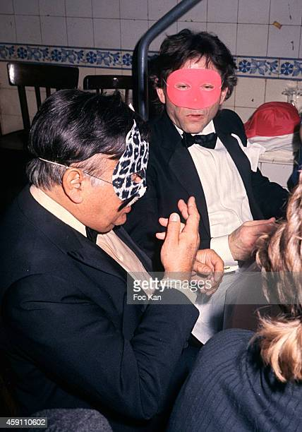 Roman Polanski attends a masked Party at Les Bains Douches in the 1990s in Paris France