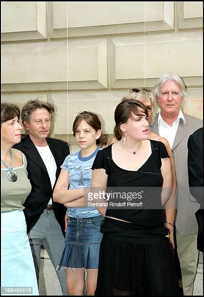 Roman Polanski daughter Morgane Marie Amelie Seigner and Jean Louis Seigner at Commemorative Plaque Tribute To Louis Seigner