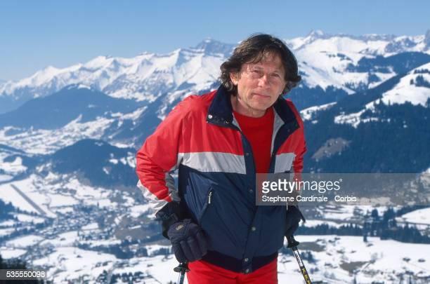 Roman Polanski is skiing on Holidays on March 9, 1996 in Gstaad, Switzerland.