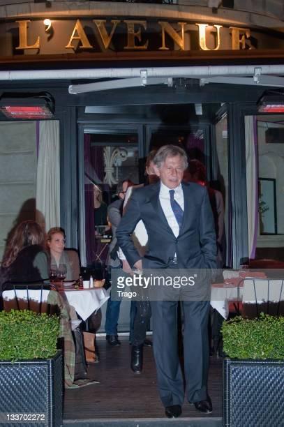 Roman Polanski leaves L' avenue restaurant on November 20 2011 in Paris France