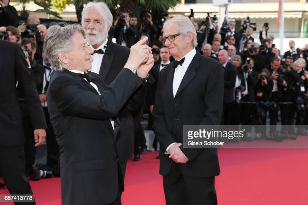 Roman Polanski Michael Haneke and Ken Loach attends the 70th Anniversary of the 70th annual Cannes Film Festival at Palais des Festivals on May 23...