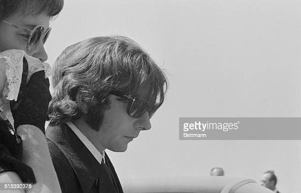 Roman Polanski with his motherinlaw Gwendolyn Tate at the funeral of his wife Sharon Tate Tate and 4 others were murdered by followers of Charles...