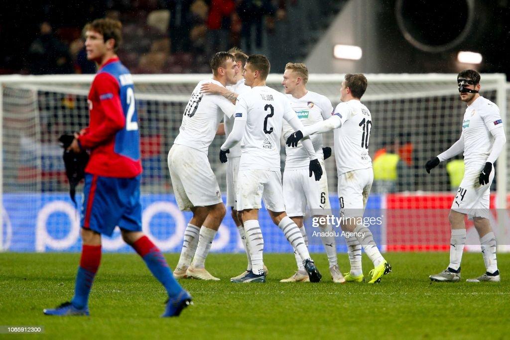 CSKA Moscow vs Viktoria Plzen : UEFA Champions League : News Photo