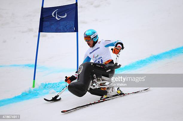 Roman Rabl of Austria competes in the Men's Super Combined Sitting Super G during day seven of the Sochi 2014 Paralympic Winter Games at Rosa Khutor...