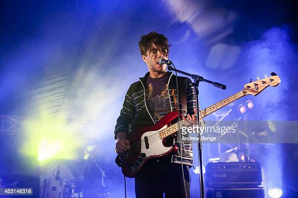 Roman Rappak of Breton performs on stage at Kendal Calling Festival at Lowther Deer Park on August 3 2014 in Kendal United Kingdom