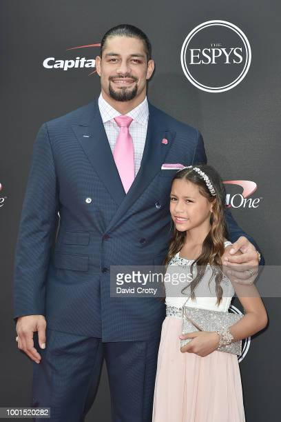 Roman Reign and Daughter attend The 2018 ESPYS at Microsoft Theater on July 18 2018 in Los Angeles California