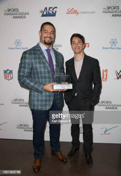 Recipients of the 'Stuart Scott ENSPIRE Award' pose at the 4th Annual Sports Humanitarian Awards at The Novo by Microsoft on July 17 2018 in Los...