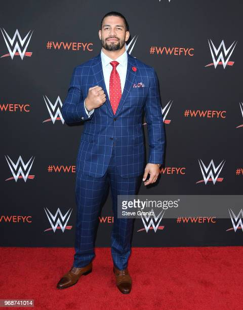 Roman Reigns arrives at the WWE's FirstEver Emmy For Your Consideration Event at Saban Media Center on June 6 2018 in North Hollywood California