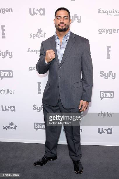 Roman Reigns attends the 2015 NBCUniversal Cable Entertainment Upfront at The Jacob K Javits Convention Center on May 14 2015 in New York City