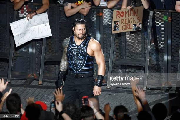 Roman Reigns attends WWE Live AccorHotels Arena Popb Paris Bercy on May 19 2018 in Paris France