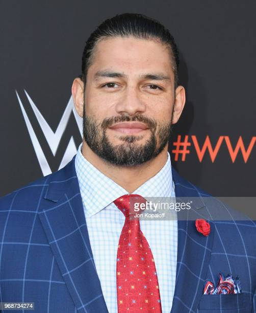 Roman Reigns attends WWE's FirstEver Emmy 'For Your Consideration' Event at Saban Media Center on June 6 2018 in North Hollywood California