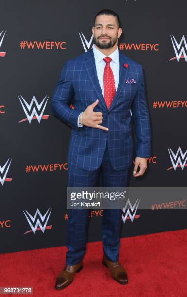 Roman Reigns attends WWE's FirstEver Emmy For Your Consideration Event at Saban Media Center on June 6 2018 in North Hollywood California