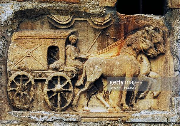 Roman relief depicting a chariot Church of Maria Saal Klagenfurt Austria Roman Civilisation 1st2nd century
