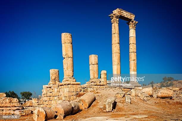 Roman ruins at Amman Citadel, Amman, Jordan
