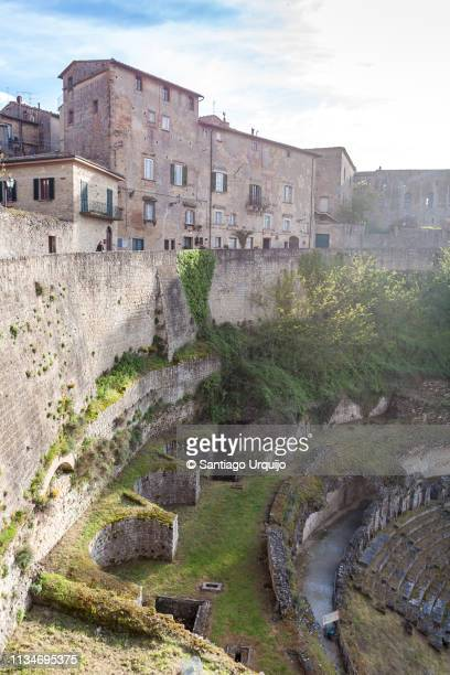 roman ruins in volterra - volterra stock photos and pictures