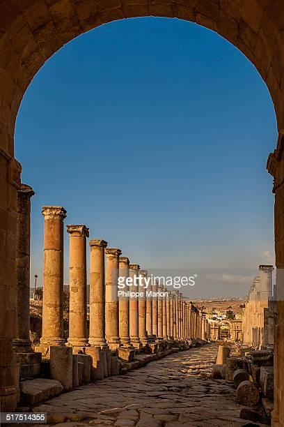Roman ruins of Gerasa in Jerash, Jordan