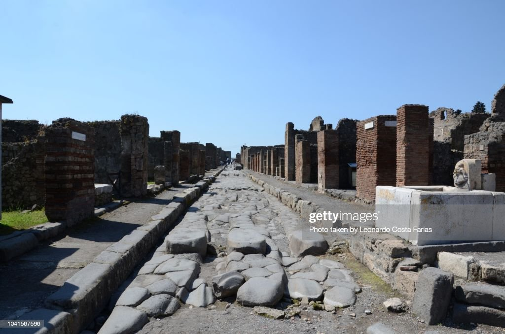 Roman ruins of Pompeii : Stock Photo