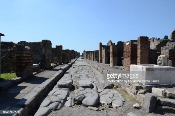 roman ruins of pompeii - leonardo costa farias stock photos and pictures