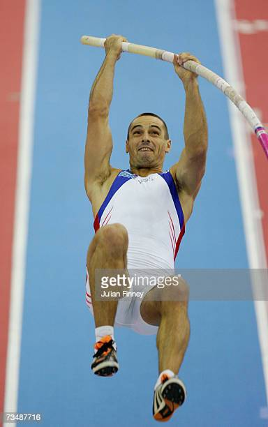 Roman Sebrle of the Czech Republic competes during the Pole Vault discipline in the Men's Heptathlon on day three of the 29th European Athletics...