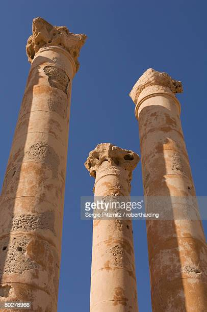 Roman site of Sabratha, UNESCO World Heritage Site, Tripolitania, Libya, North Africa, Africa