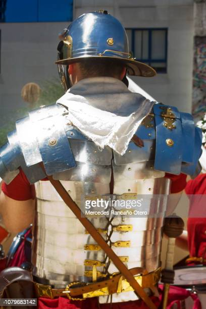 roman soldier in a traditional festival, 'arde lucus' - roman army stock pictures, royalty-free photos & images