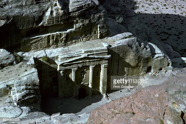 Roman Soldier Tomb in Petra seen from above 1st century
