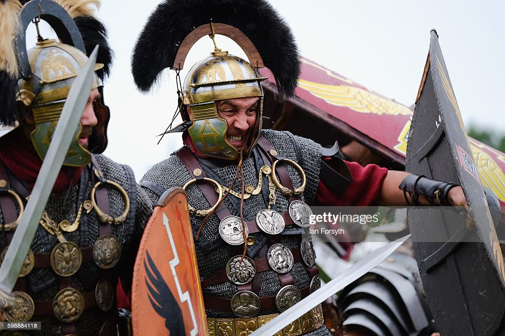 Enthusiasts Re-enact Roman Times At Hadrian's Wall : News Photo