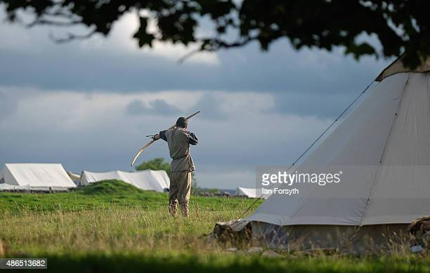 Roman soldiers from the Italian reenactment group Legio 1 Italica take part in a weekend of authentic events based around Roman military history on...