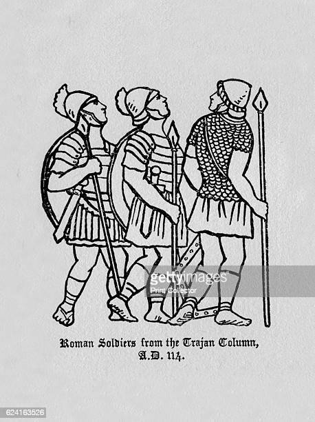 Roman Soldiers from the Trajan Column AD 114' 1910 From The Army Pageant edited and arranged by FR Benson and Algernon Tudor Craig [Sir Joseph...