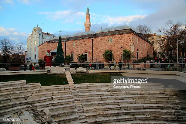 Roman stadium and mosque in the city center of Plovdiv Bulgaria